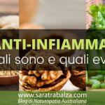 Cibi antinfiammatori: quali sono e quali evitare